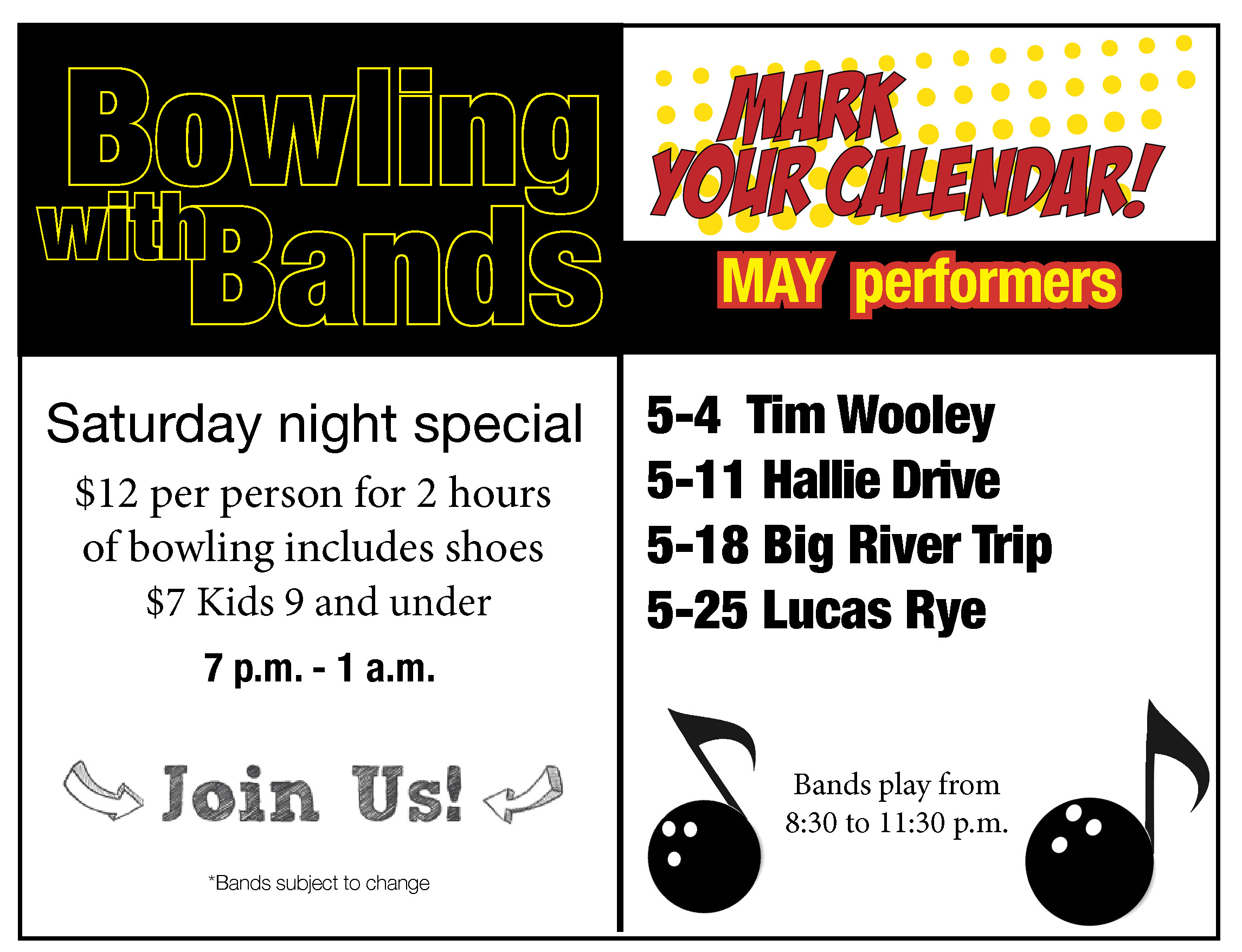 Bowling with Bands